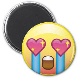 Fangirl excitó el imán feliz gritador de Emoji del