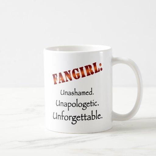 Fangirl: Unashamed (luz) Taza Básica Blanca
