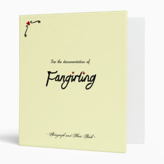 Fangirling Book Vinyl Binders