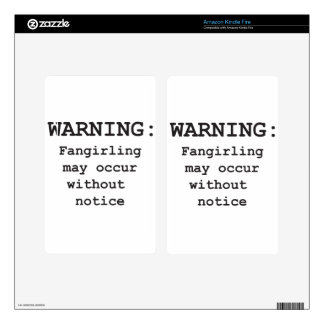 Fangirling Kindle Fire Skins