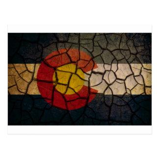 Fango agrietado de la bandera de Colorado Postal