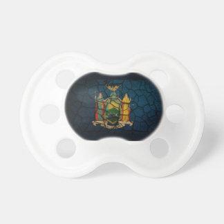 Fango agrietado de la bandera de Nueva York Chupetes Para Bebes