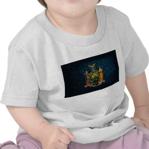 Fango agrietado de la bandera de Nueva York Camisetas