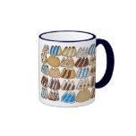 Fango del café con las galletas cocidas tazas de café