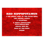 Fango rojo tarjetas de visita