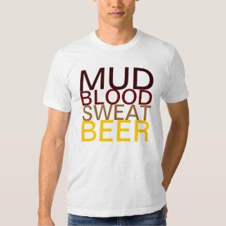 ¡Fango, sangre, sudor, cerveza! Playera