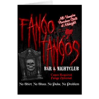 Fango Tangos Vampire Nightclub Greeting Card