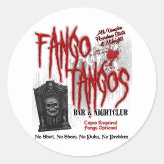 Fango Tangos Vampire Nightclub Classic Round Sticker