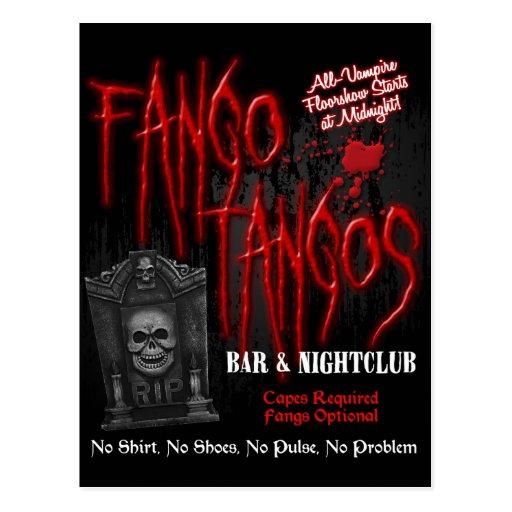 Fango Tangos Vampire Nightclub Postcard