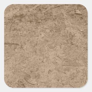 Fango. Tierra fangosa de Brown Pegatinas Cuadradases Personalizadas