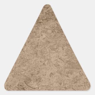 Fango. Tierra fangosa de Brown Calcomania De Triangulo