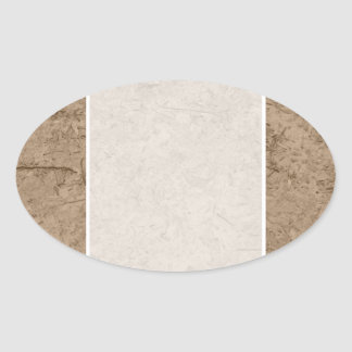 Fango. Tierra fangosa de Brown Calcomania Oval