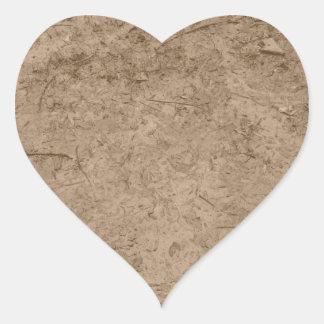 Fango. Tierra fangosa de Brown Calcomania De Corazon Personalizadas