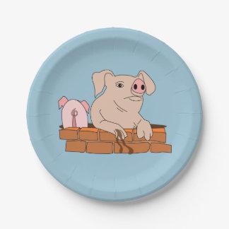 Fangoso la reclinación del cerdo platos de papel