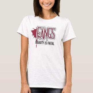 FANGS BEAUTY IS FATAL Logo Baby Doll Shirt Large