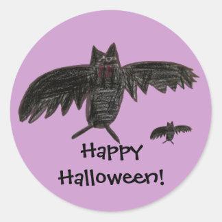 Fangs. Halloween STicker