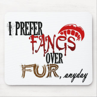 Fangs over Fur Mouse Pad