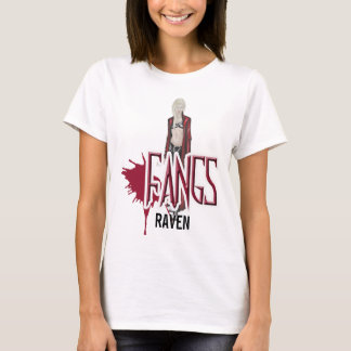 FANGS Raven Character Baby Doll Shirt Medium