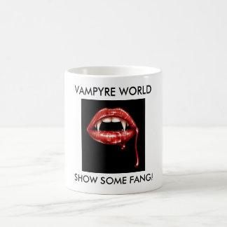 Fangs, SHOW SOME FANG!, VAMPYRE WORLD Basic White Mug