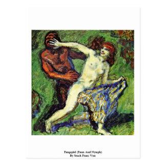 Fangspiel (Faun And Nymph) By Stuck Franz Von Postcards