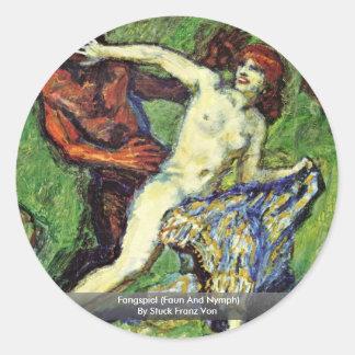 Fangspiel (Faun And Nymph) By Stuck Franz Von Sticker