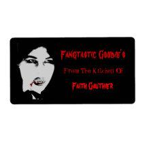 Fangtastic Vampire Kitchen Halloween Baking Label