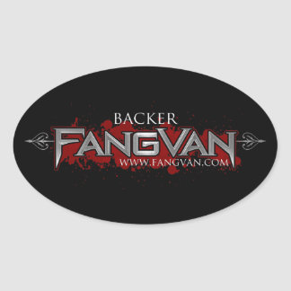 "FangVan ""Backer"" Official Oval Sticker"