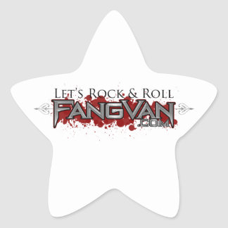 """FangVan """"Let's Rock and Roll"""" Official Star Sticker"""