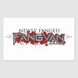 """FangVan """"Newly Fanged"""" Official Rectangle Stickers"""