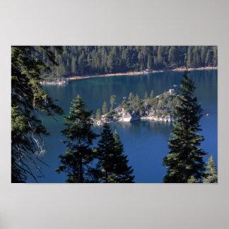 Fannette Island, Emerald Bay, Lake Tahoe Poster