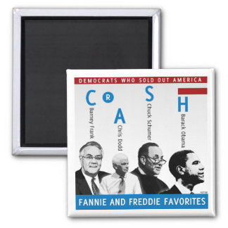 Fannie And Freddie 2 Inch Square Magnet