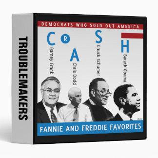 Fannie And Freddie Vinyl Binder
