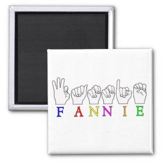 FANNIE   NAME ASL FINGER SPELLED REFRIGERATOR MAGNETS