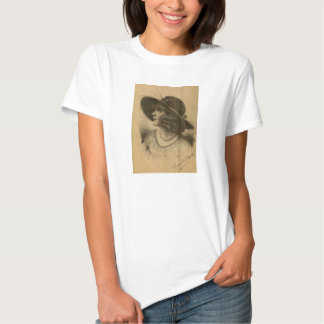 Fannie Ward 1915 pencil portrait T-shirt