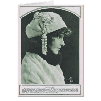 Fannie Ward 1918 vintage portrait Card
