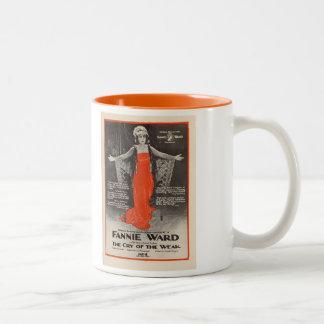Fannie Ward 1919 exhibitor ad silent movie Two-Tone Coffee Mug