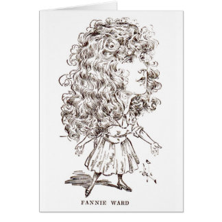 Fannie Ward Silent Movie Actress caricature Card