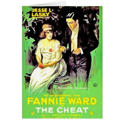 Fannie Ward The Cheat Movie poster Card