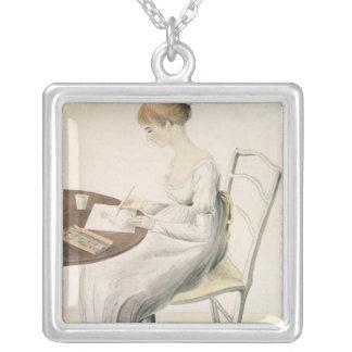 Fanny Austen-Knight Square Pendant Necklace