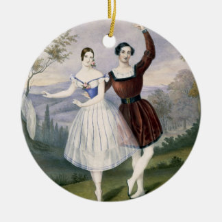 Fanny Cerrito (1817-1909) and Sigr. Guerra, in the Ceramic Ornament