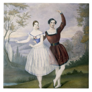 Fanny Cerrito (1817-1909) and Sigr. Guerra, in the Ceramic Tile