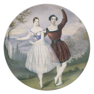 Fanny Cerrito (1817-1909) and Sigr. Guerra, in the Melamine Plate