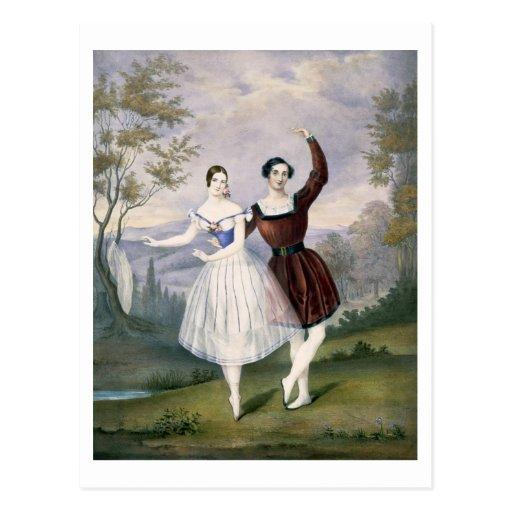 Fanny Cerrito (1817-1909) and Sigr. Guerra, in the Postcard