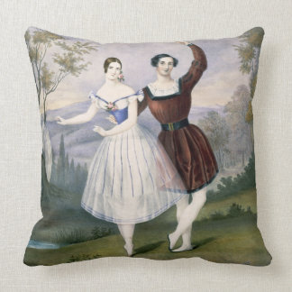 Fanny Cerrito (1817-1909) and Sigr. Guerra, in the Throw Pillow