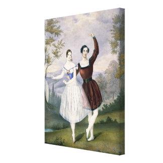 Fanny Cerrito (1817-1909) y Sigr. Guerra, en Impresión En Lona