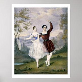 Fanny Cerrito (1817-1909) y Sigr. Guerra, en Posters