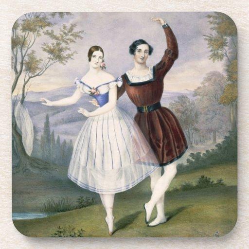 Fanny Cerrito (1817-1909) y Sigr. Guerra, en Posavasos De Bebidas