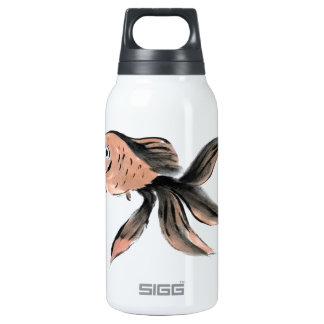 Fanny Fantail Goldfish, Sumi-e Insulated Water Bottle