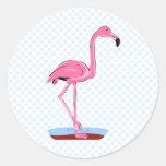 Fanny Flamingo Classic Round Sticker
