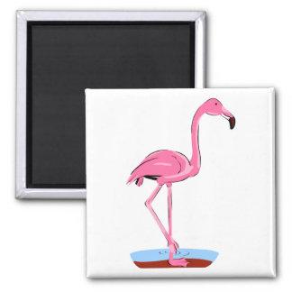 Fanny Flamingo Magnets
